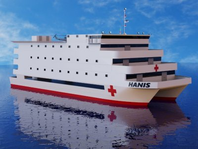 Sabrecraft Marine Hospital Ship 60.00 x 22.00 meter