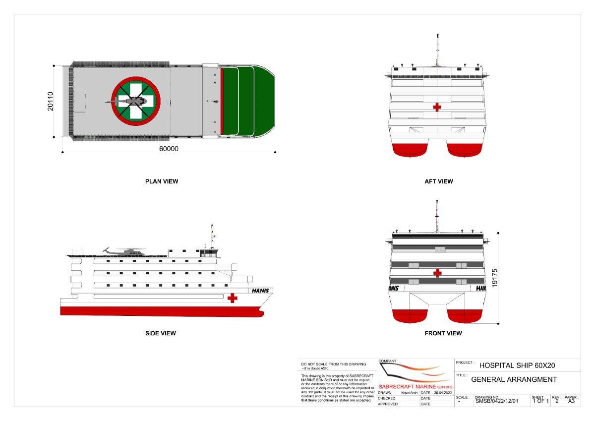 New Sabrecraft Marine Hospital Ship 60.00 x 22.00 meter