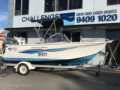 Quintrex 540 Freedom Sport with Yamaha 100hp 4 Stroke