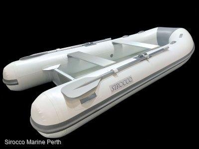 Sirocco Rib-Alloy 340 3.4m Aluminium / Hypalon Inflatable Tender RIB