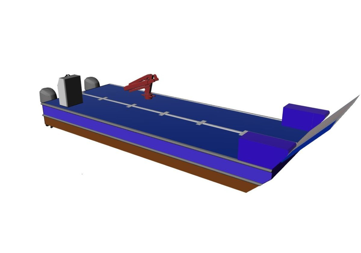 Sabrecraft Marine Self Propelled Barge Road Transportable Containerised