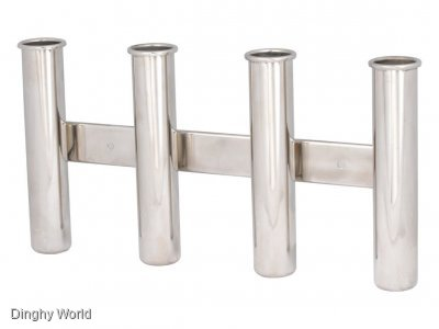 STAINLESS ROD HOLDERS - 3 AND 4 HOLDER TYPE - GREAT VALUE- $ 39 AND $ 49