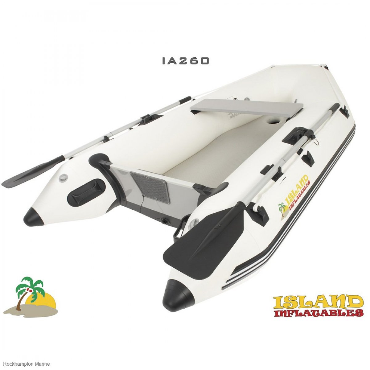 Island Inflatables Island Airdeck 260 Boat + Parsun 5hp Four Stroke Outboard Package
