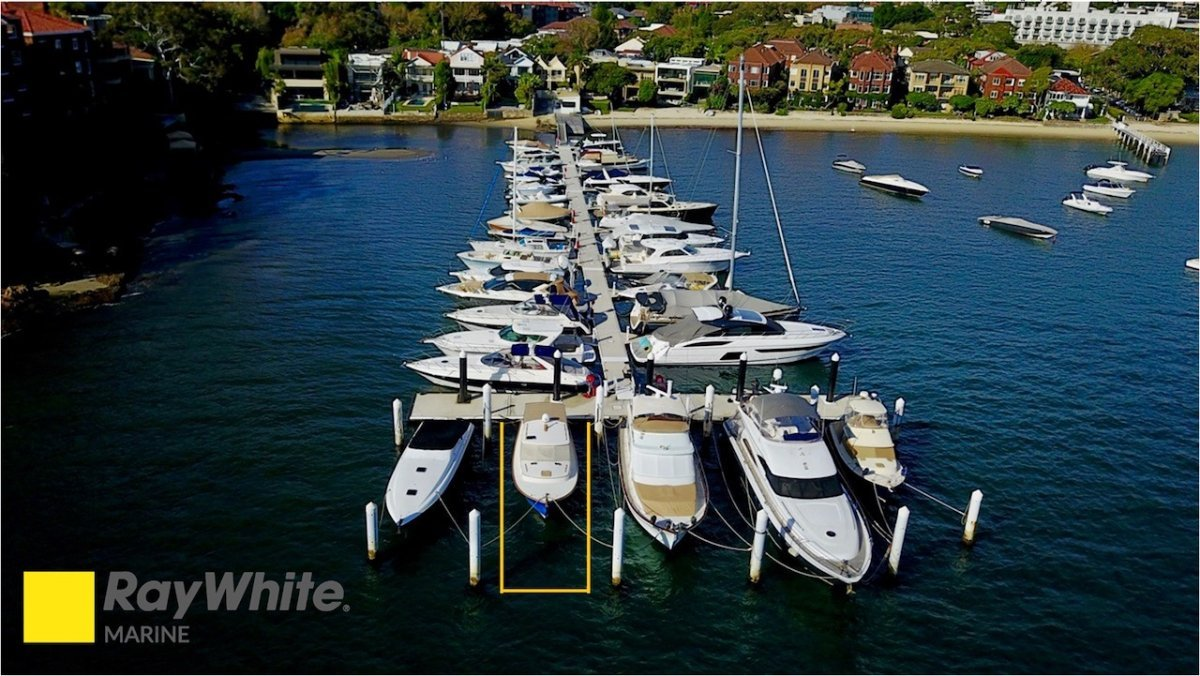 18m Double Bay Marina Berth - For Sale