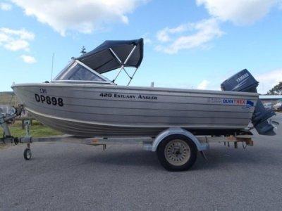 Quintrex 420 Estuary Angler SUIT Savage Stacer, Stessel, Stessco