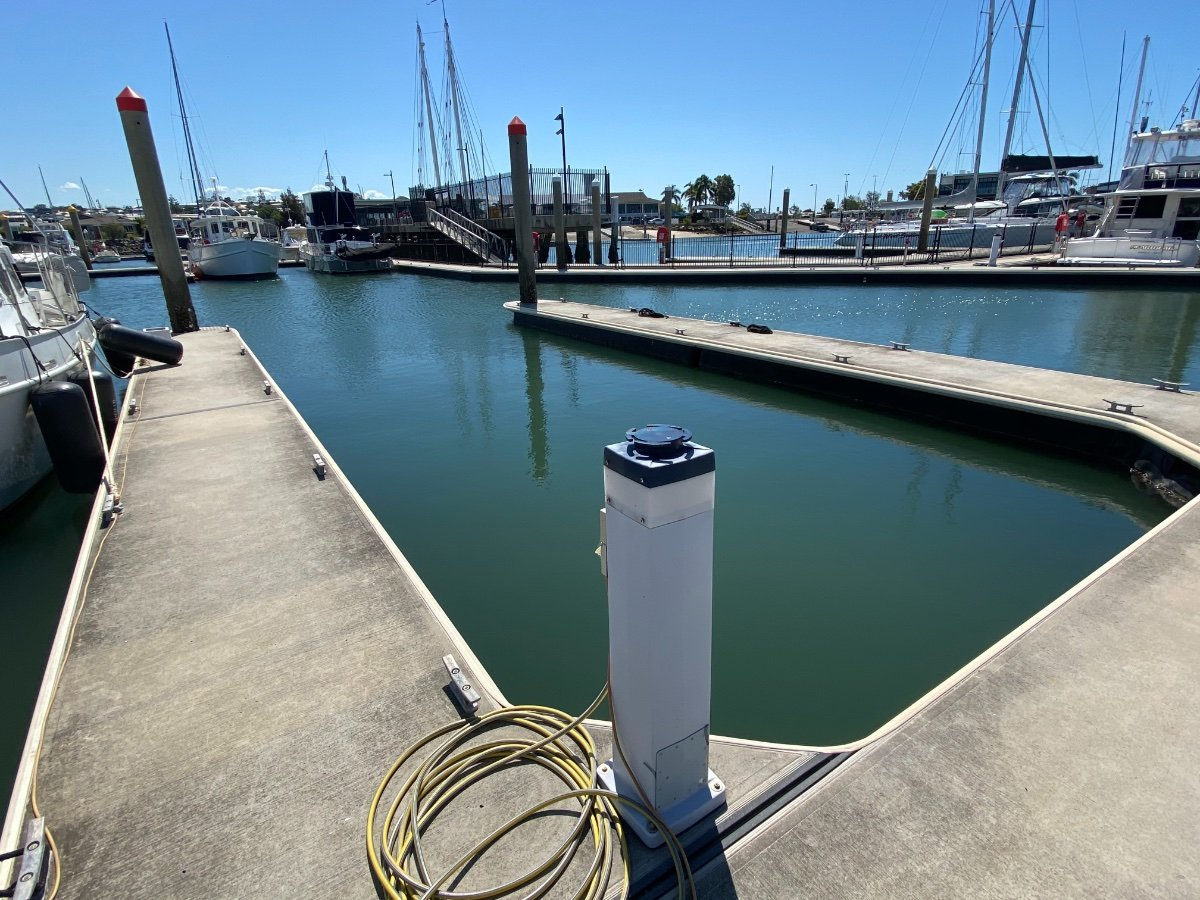 Manly Berth for Sale:Berth walkway either site