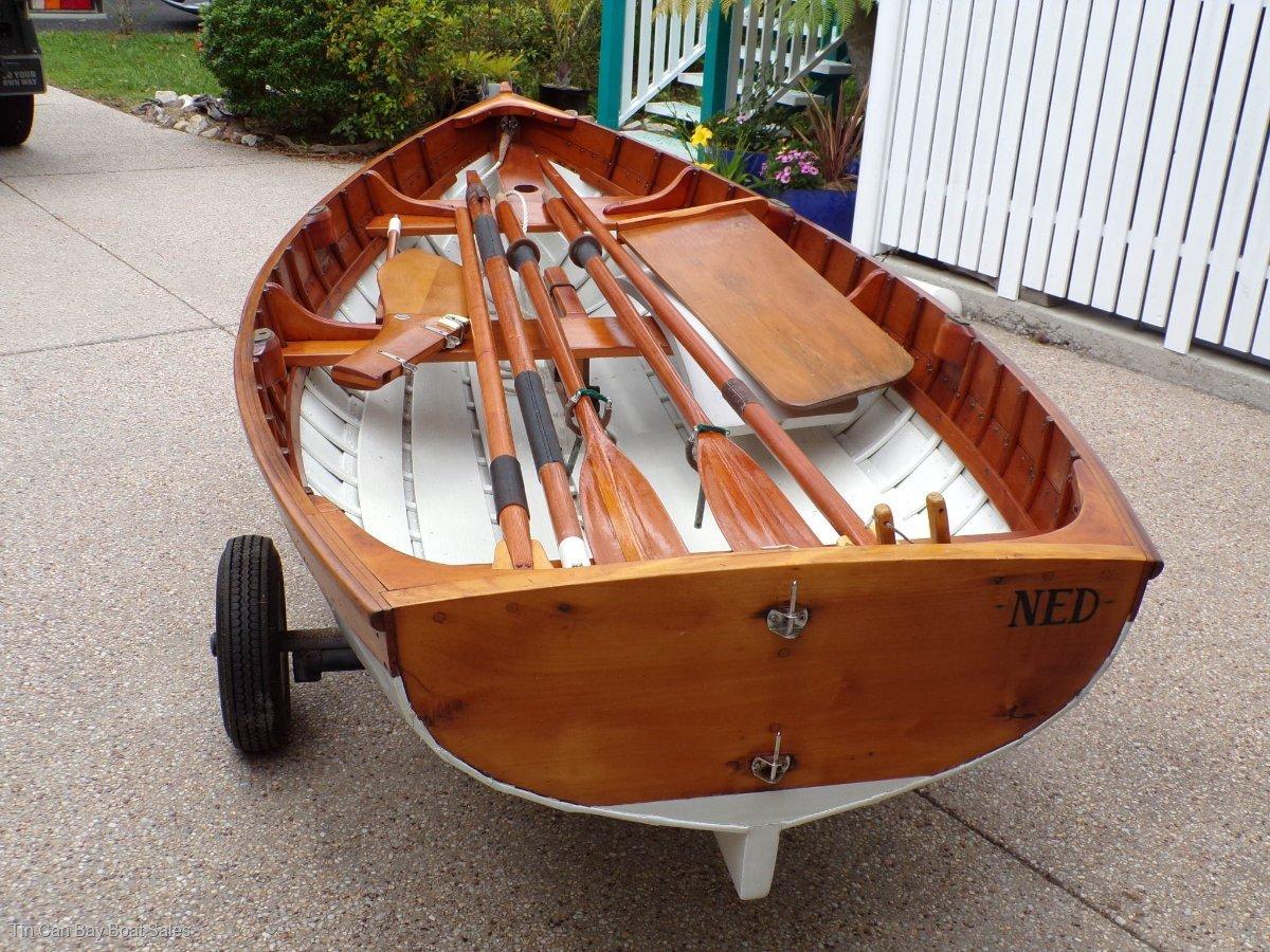 Ned Trewartha Wooden Boats 10 Clinker Sailing Dinghy Custom Shipwright-built 10' clinker Sailing dinghy