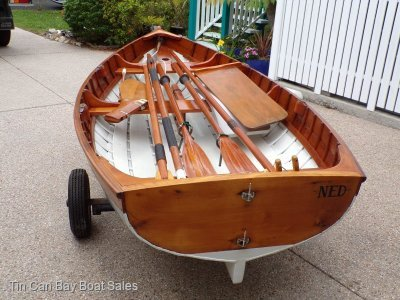 Ned Trewartha Wooden Boats 10 Clinker Sailing Dinghy Custom Shipwright-built 10' clinker Sailing dinghy