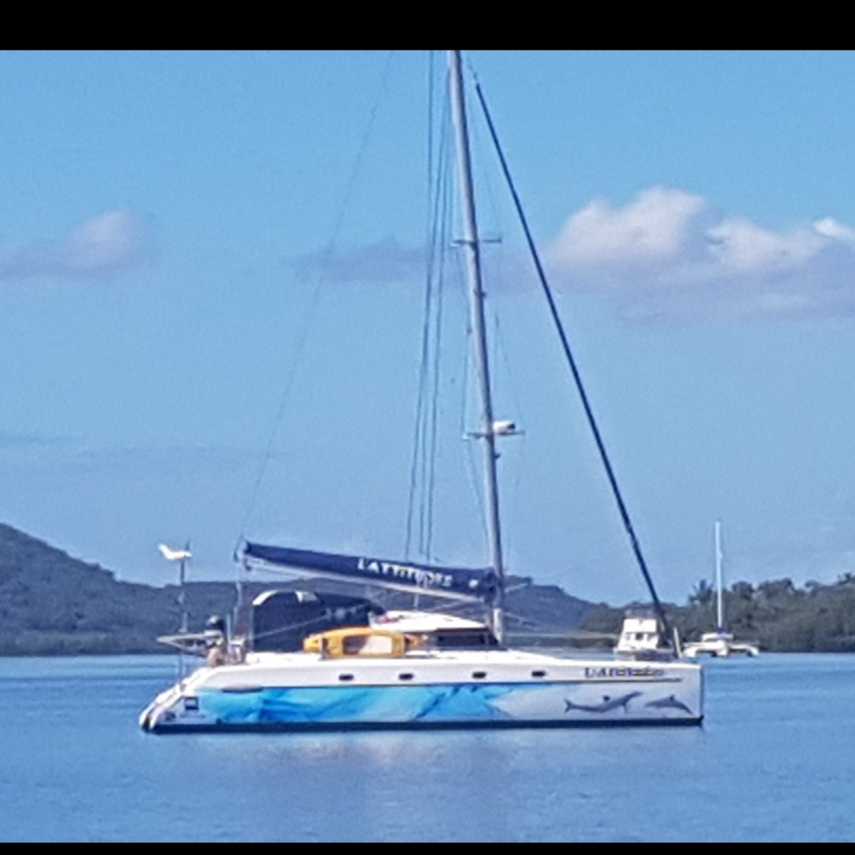 Fountaine Pajot Belize 43 2003 4cabin charter version, with 2 heads removed.:New Wrap from Boat Works