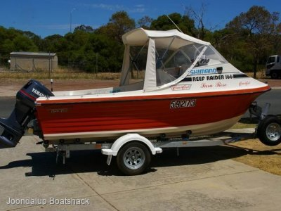 CruiseCraft Raider 166 late model motor and trailer