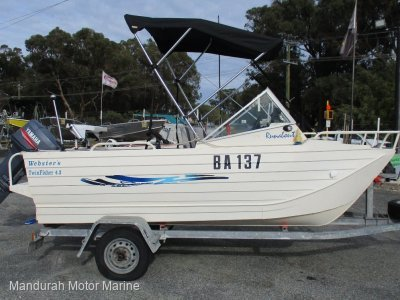 Webster 4.3 Twinfisher Runabout