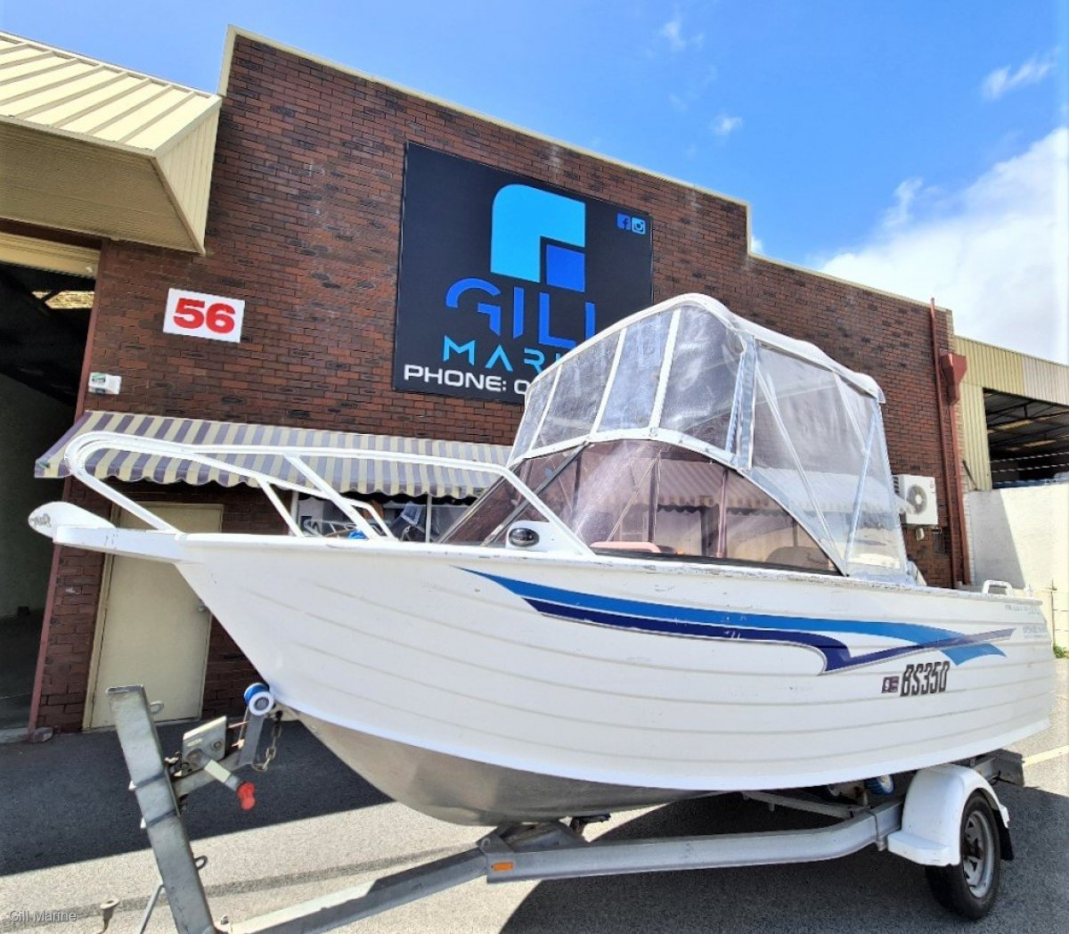 Trailcraft 470 Runabout freshly serviced boat and trailer ready for summer
