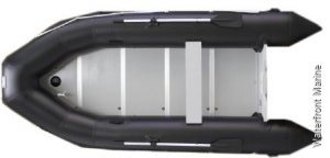 Aristocraft Bayrunner 3.6M Tender Black INFLATABLE BOAT GERMAN PVC