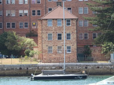 Adams 10 Shear Magic - racing from Manly yacht club