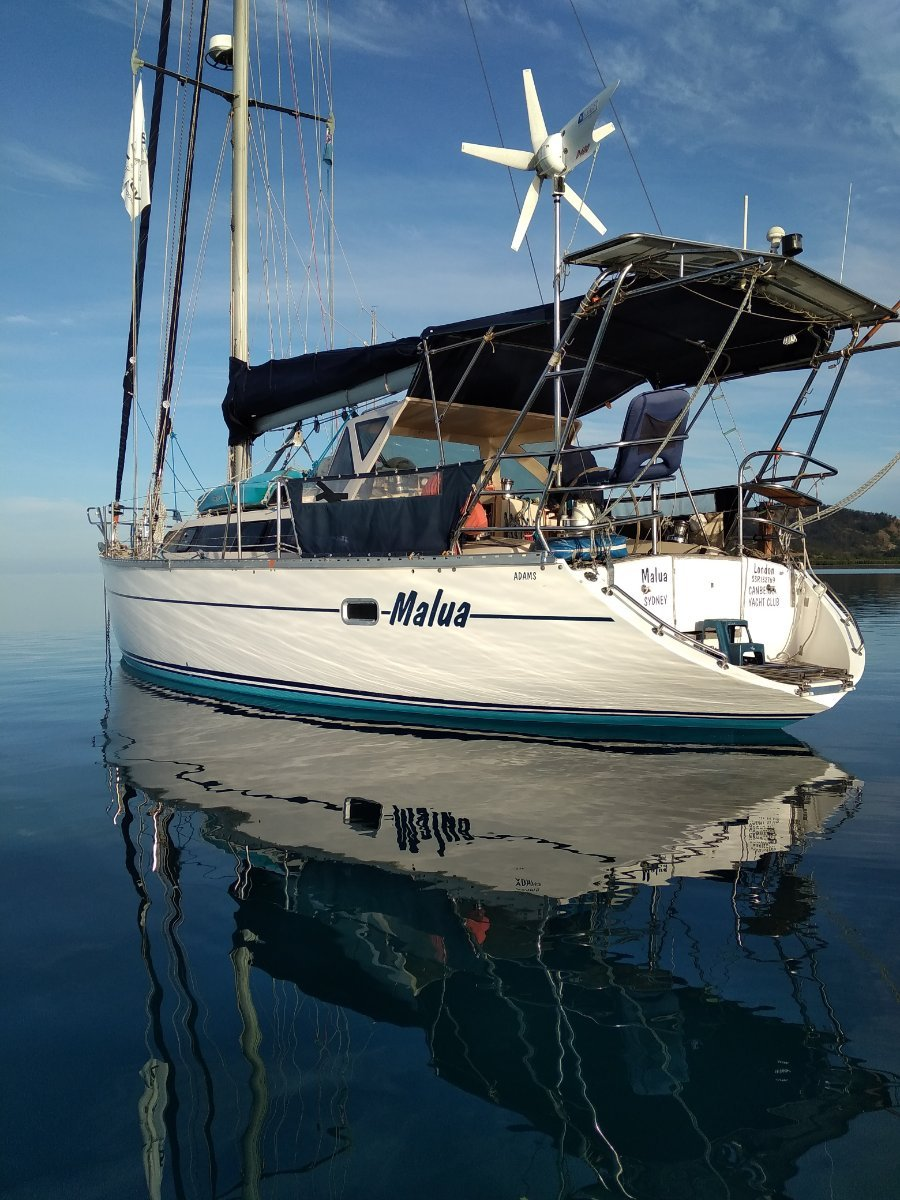 Bluewater Cruising Yachts Adams 42 ft Raised Saloon World Cruiser Setup for short handed sailing