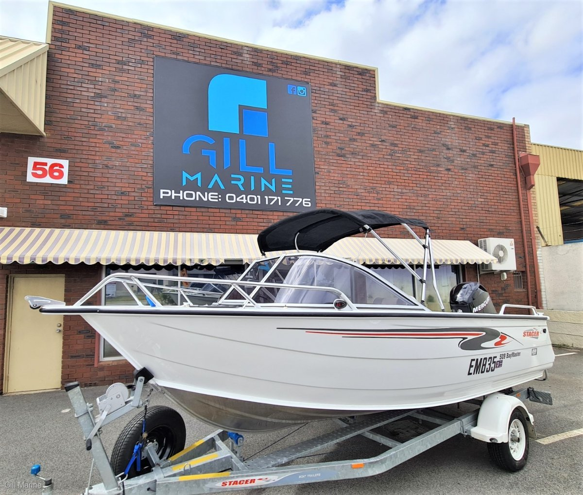 Stacer 509 Bay Master $145 P/WEEK ONE OWNER FROM NEW, 150HOURS OLD.. !