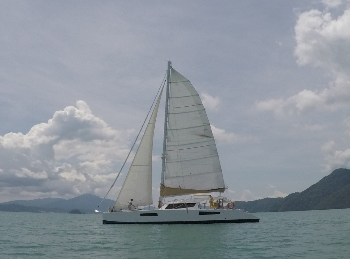 Catathai Catathai 50':Mainsail and jib