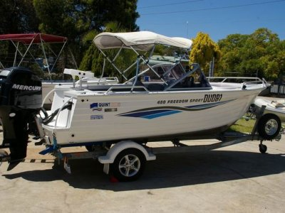 Quintrex 480 Freedom Sport 2007 with 75hp Mercury 4 stroke