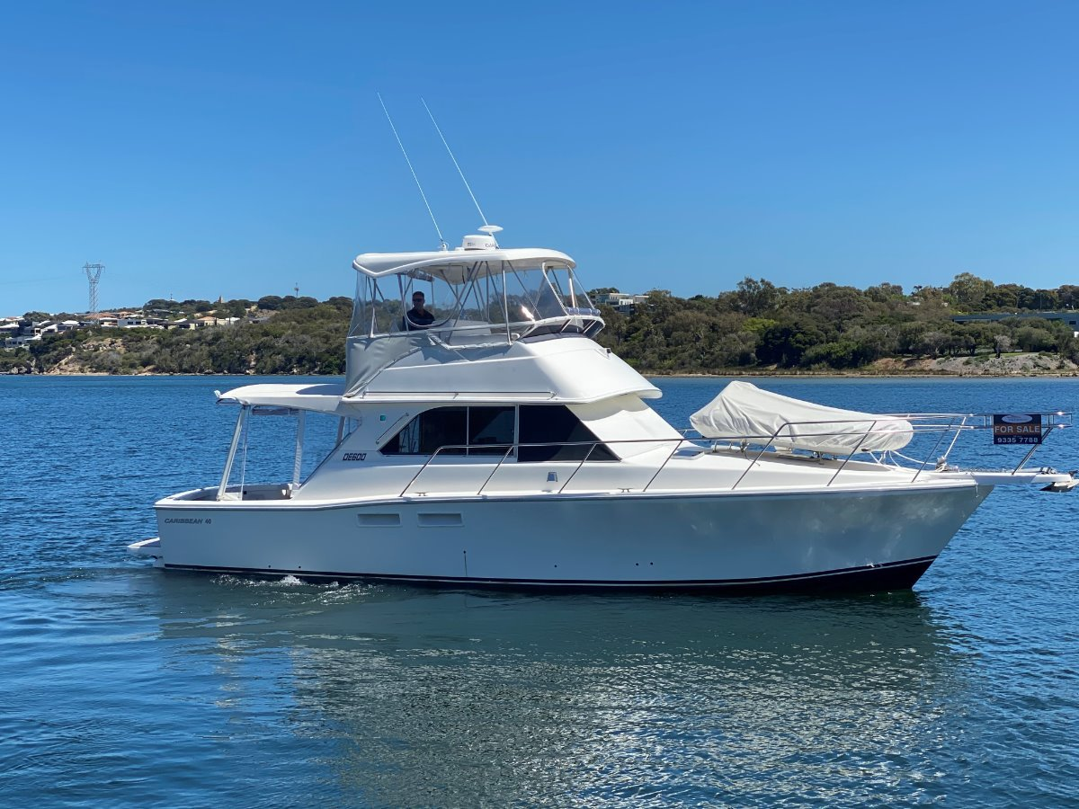 """Caribbean 40 Flybridge Cruiser """" PRICED TO SELL """":CARIBBEAN 40 by YACHTS WEST MARINE ph 9335 7788"""