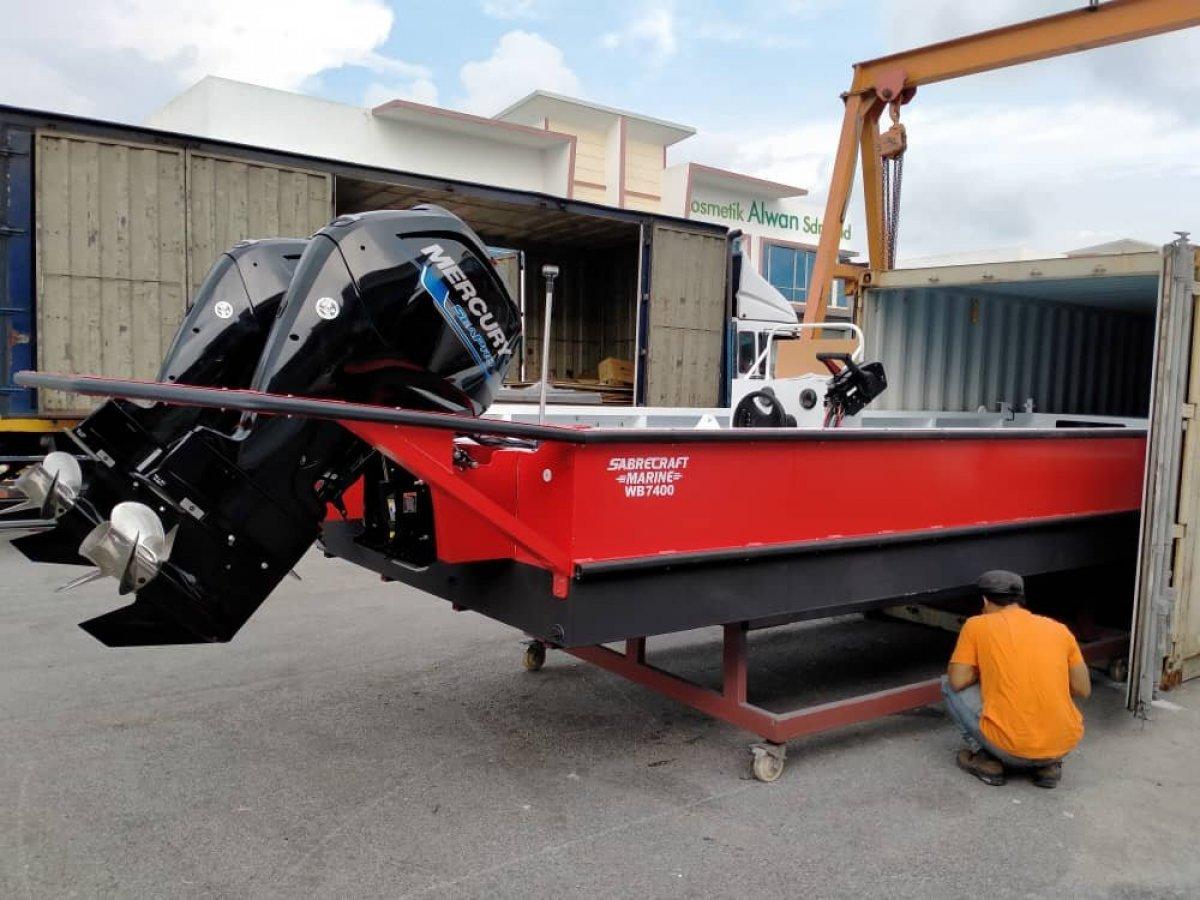 New Sabrecraft Marine WB7400 Workboat Punt Work Boat Barge