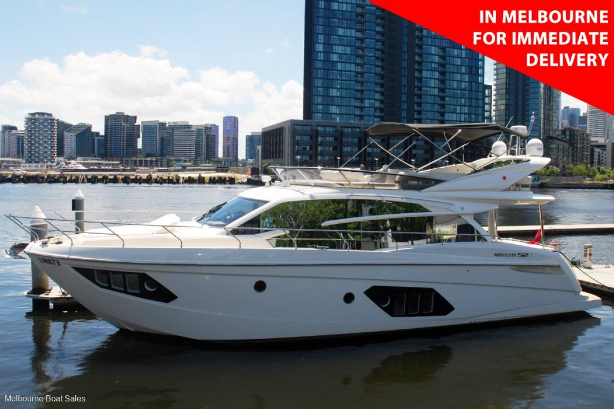 Absolute 52 Fly - IN MELBOURNE FOR IMMEDIATE DELIVERY
