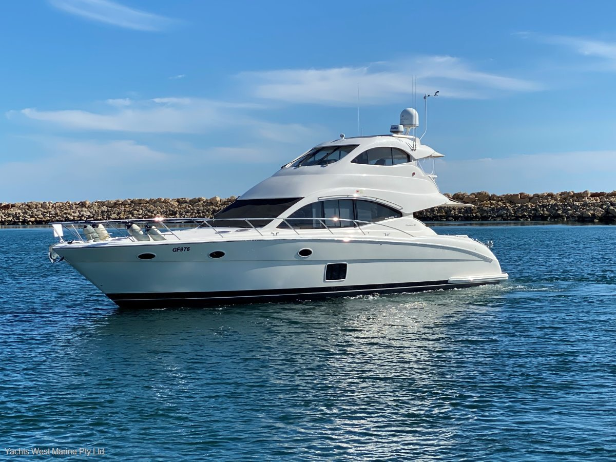 Maritimo A55 Aegean Flybridge 4 Cabins FULL BEAM MASTER:MARITIMO A55 by YACHTS WEST ph 9335 7788