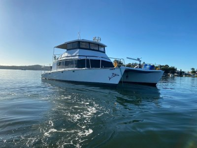 Crowther Power Cat Converted catamaran