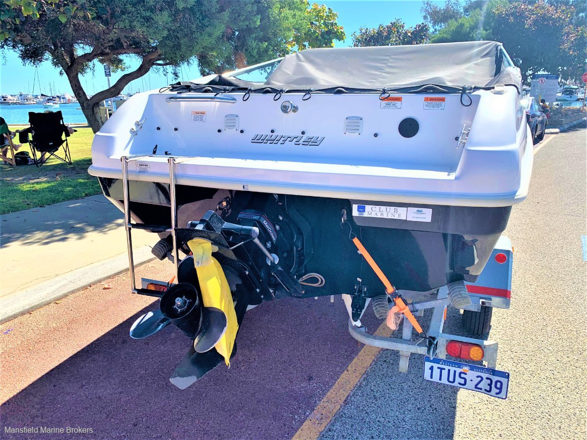 Whittley Clearwater 1800 Bowrider on trailer