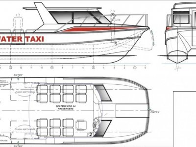 9.95m Alloy Water Taxi / Tour Boat