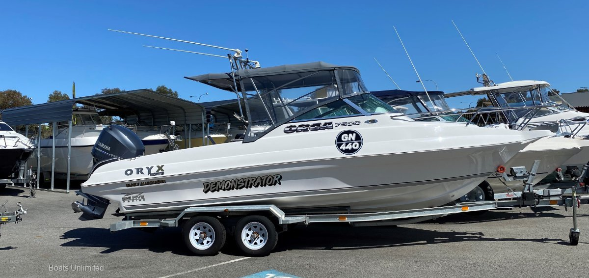 New Oryx Orca 7500 All Rounder NEW BOAT PACKAGES, REQUEST A BUILD SHEET