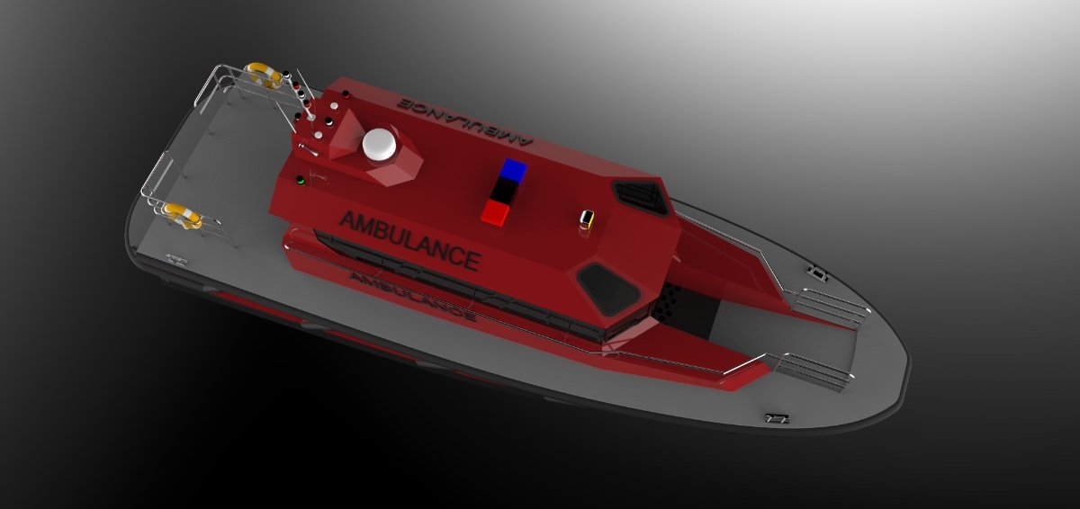 14m Polyethylene Ambulance Boat