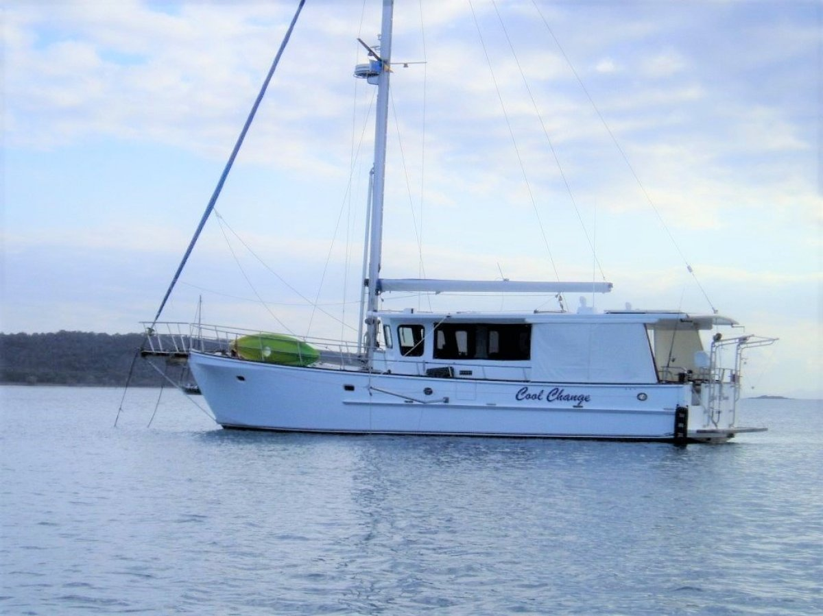 Radford 14 metre epoxy composite professionaly built motor sailer