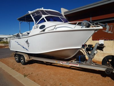 Formosa Tomahawk Offshore 660 Hard Top Half Cabin Fixed open cabin hard top with awning rails
