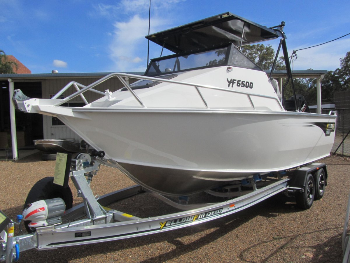 Yellowfin Plate 6500 Folding Hard Top Boat and Trailer Package Only