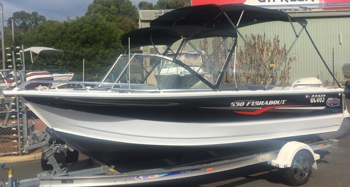 Quintrex 530 Fishabout - only 85 hours since new
