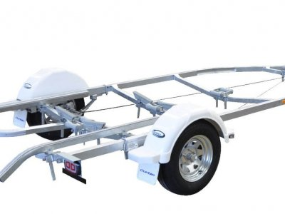 DUNBIER SPORTS CENTRELINE 5.3B BRAKED BOAT TRAILER FOR BOATS UPTO 5.3m