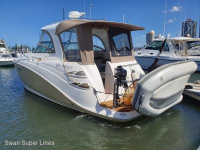 Larson Cabrio 350 Twin Diesel Sports Cruiser with hard top