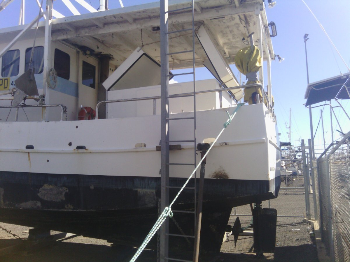 Steel live trout boat