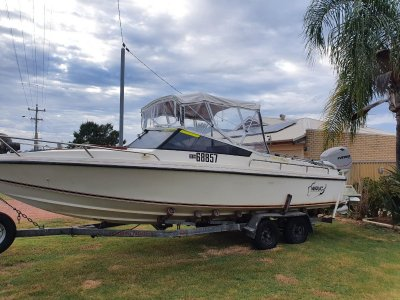 Jenks Craft 25 Allrounder Rotto boat long range offshore perform