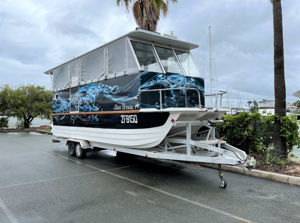 Custom Party Boat doubling as an overnighter