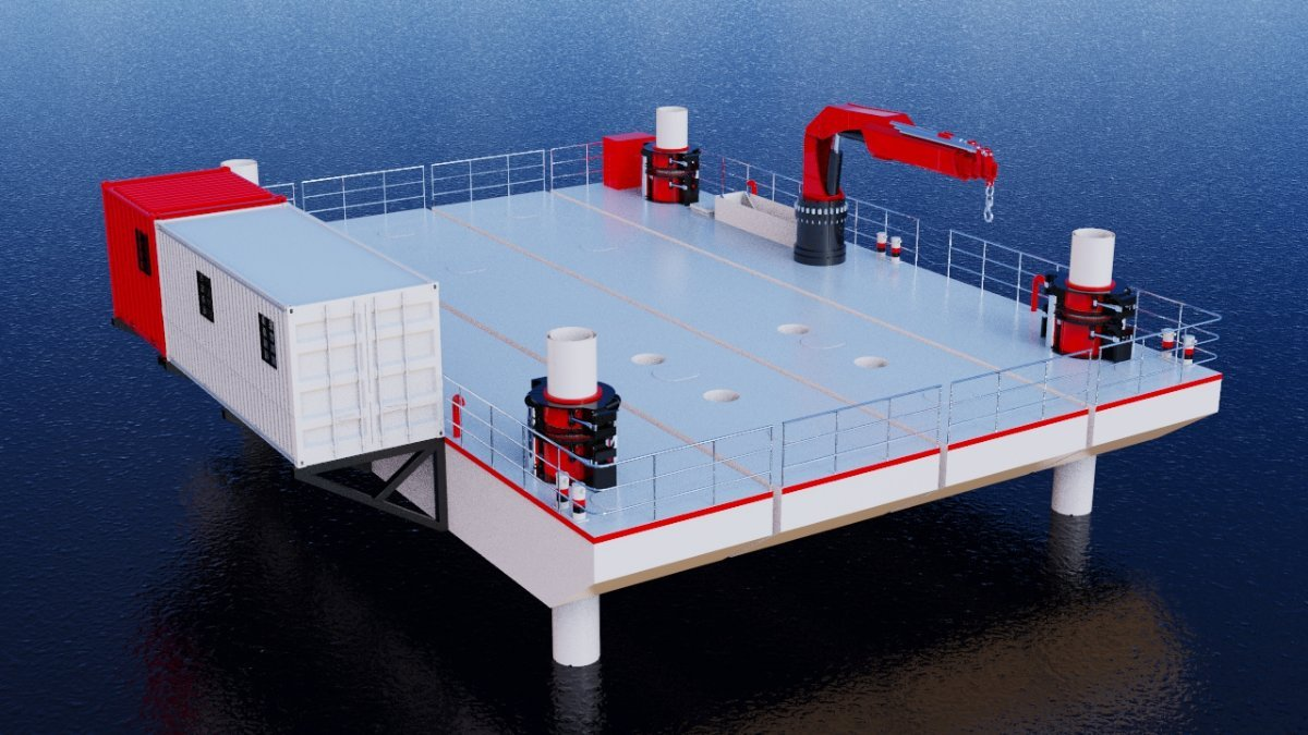 Sabrecraft Marine JUB Jack Up Barge 120 tonne 18 x 12 Road Transportable