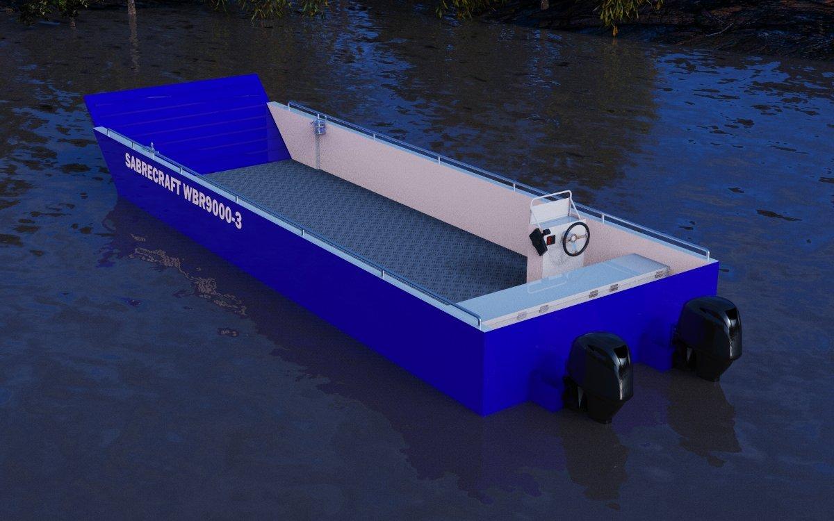 New Sabrecraft Marine WBR9000-3 Work Boat with Ramp