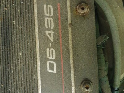 Volvo D6 engine, wiring and dials