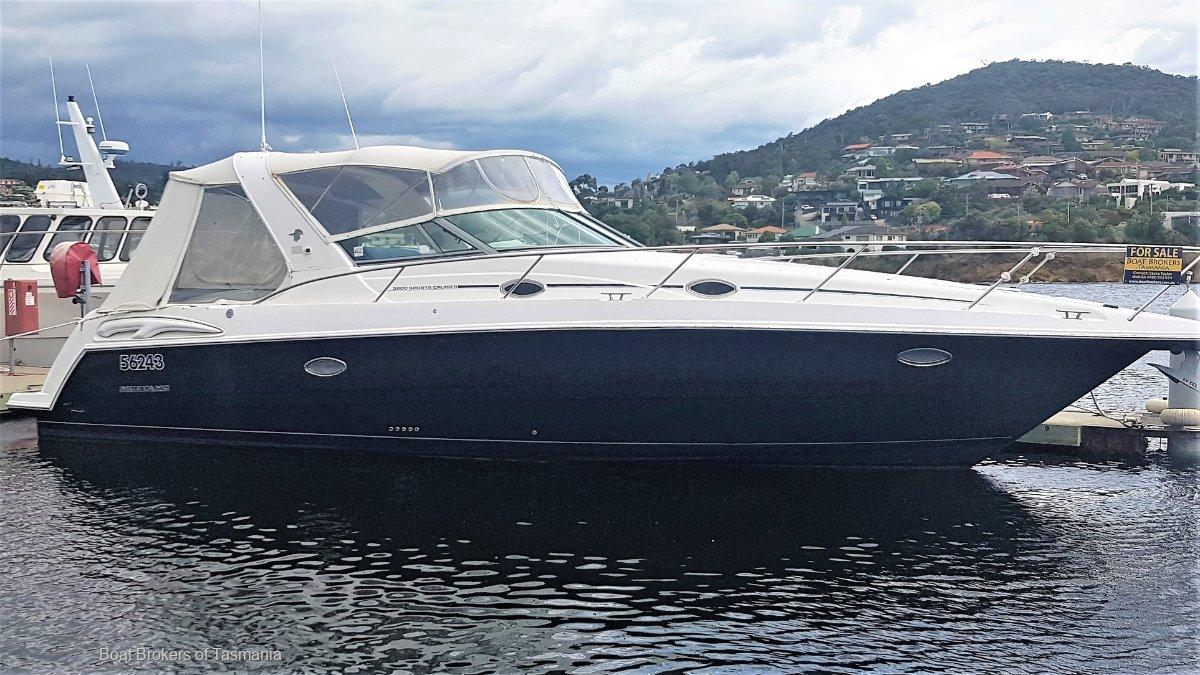 Mustang 3800 Sportscruiser Delivered December 2003. Very low hours Boat Brokers of Tasmania