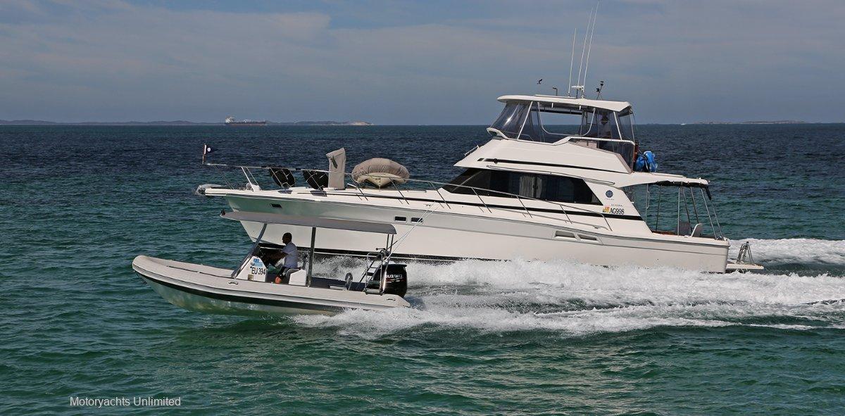Riviera 48 Flybridge 650 Falcon Rib, Berth, Garage & Rotto Mooring