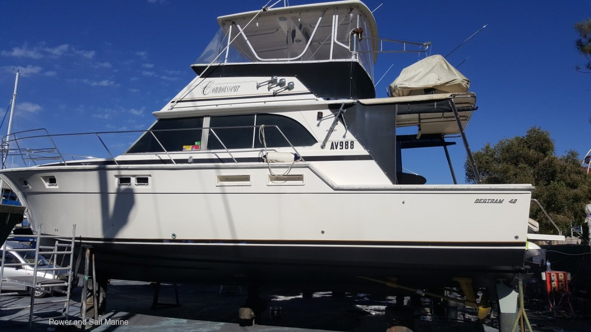 Bertram 42 Flybridge beautifully maintained vessel, credit to the owner