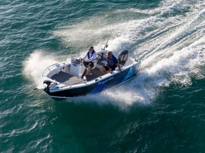 Stessco Renegade 440 with 40hp Outboard