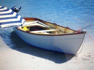 Custom Wooden Sailing Skiff Boat