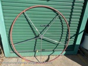 Steering Wheel 1620mm Diameter, leather grip, Stainless steel:Lewmar yacht steering wheel