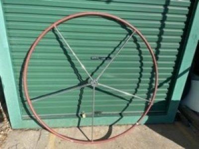 Steering Wheel 1620mm Diameter, leather grip, Stainless steel